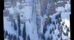 Steep Telluride Snowfall, Crazy skier at bottom