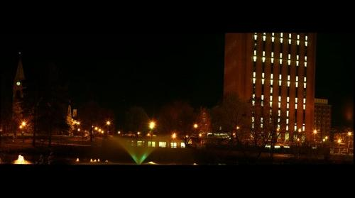 Umass Night Shot