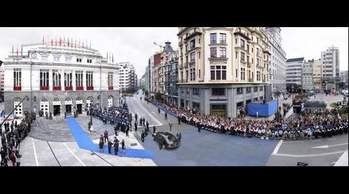 Entrada de SS.AA.RR. a los Premios Príncipe de Asturias 2009
