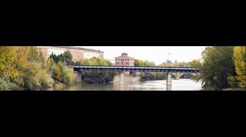 Puente de Hierro con lluvia