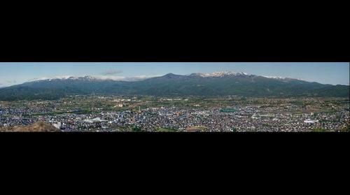 Another view of Fukushima city May morning
