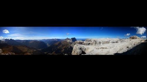 Panoramica desde el Sass Pordoi