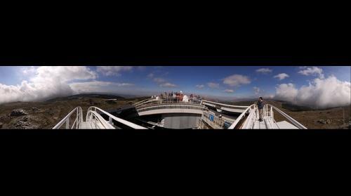 From top of Calar Alto German-Spanish Astronomical Center, Almeria (Spain)
