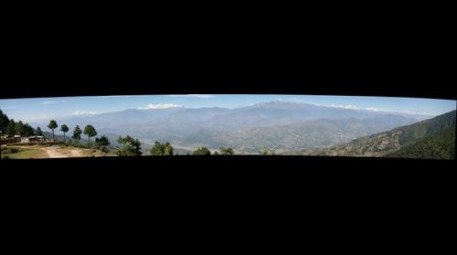 Panaromic view of Himalayas from Kakani