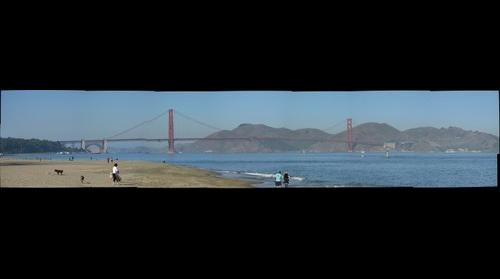 San Francisco Golden Gate from the Beach