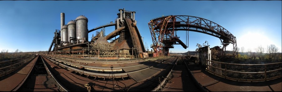 Carrie Furnaces No. 6 & 7, southwest view