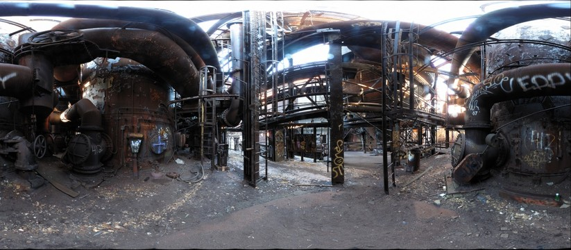 In the bowels of Carrie Furnace