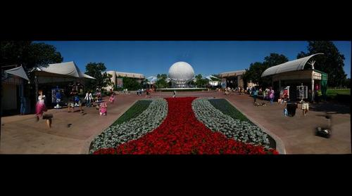 Main plaza, EPCOT Theme Park, Walt Disney World, Orlando, Florida, USA