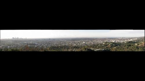 Hollywood and Los Angeles Skyline