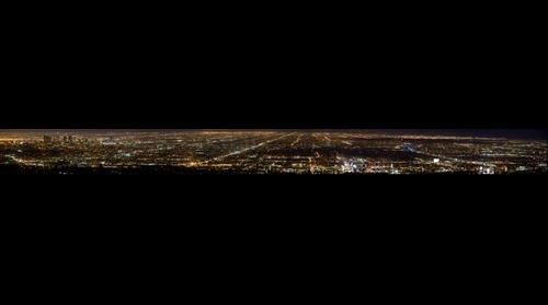 Los Angeles at Night via Mt. Lee