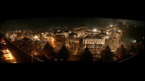 Pashupati Nath Temple at night