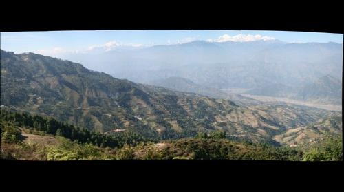 View from Kakani with the Himalayas