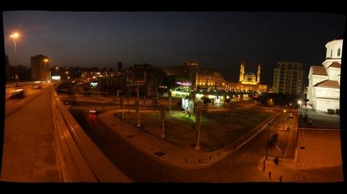 Beirut - Martyrs' Square - Night view