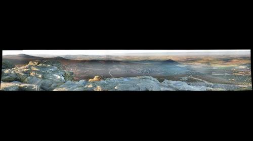 Panoramic view from Mither Tap