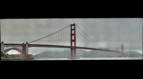 Golden Gate Bridge in Light Fog