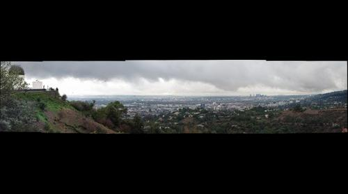 Rain over Los Angeles