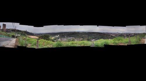 Panoramica - USIMINAS, Mineirinho, Mineirao e mata da UFMG desde o bairro Engenho Nogueira