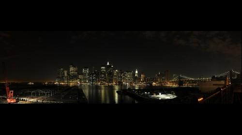 MANHATTAN by Night, From Brooklyn
