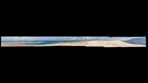 Panorama of Pag Island Landscape - Beach Zrce, Papaya Club, Novalja (1.9 Gigapixel)