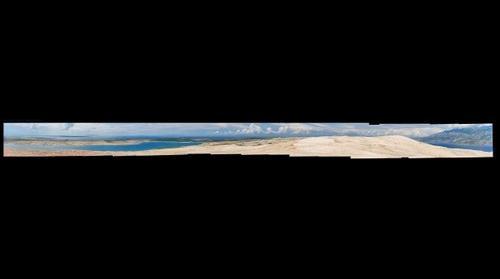 Panorama of Pag Island Landscape - Beach Zrce, Papaya Club, Novalja (1.9 Gigapixel)