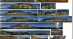 091102 Arroyo Burro Hendry beach bluffs Pacific Ocean Santa Barbara collage of pans PScs4 SD790