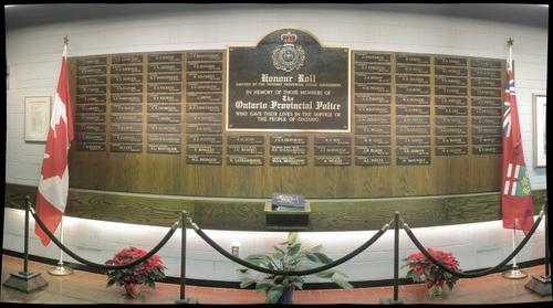 OPP Honour Roll at the Ontario Police College