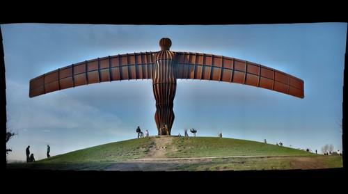 Panorama - Gateshead Angel of the North 1 - restitch