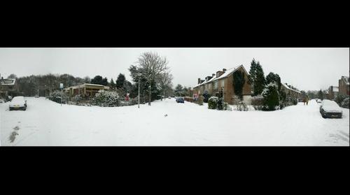 Sneeuw in Heemstede