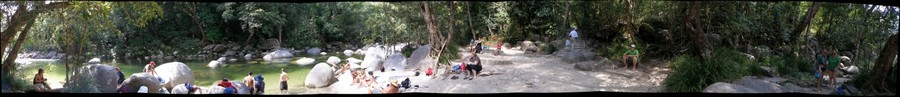 Mossman Gorge (QLD), 3d-pano (left eye)