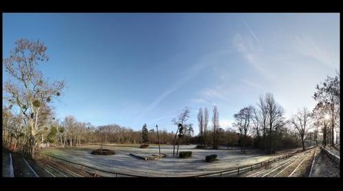 NLPhotos - Balade au Bois de Cergy - Espace Equestre - Panoramique 26 Décembre 2009