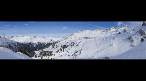 Panorama of Ischgl Silvretta Arena Skiing Resort - Austria Alps (2.6 Gigapixel)