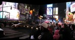 New York&#39;s Time Square the night after New Years Eve 2010