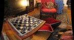 Glass Chess Set and Horn
