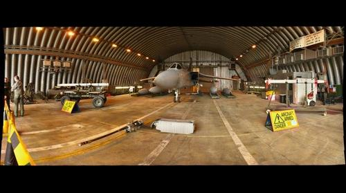 UK RAF Tornado F3 in Quick Reaction Alert hanger