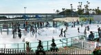 Oceanside Ice Skating in Winter - Jan 10, 2009
