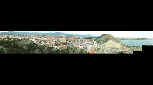 Alicante desde el aparcamiento del Castillo Santa Barbara