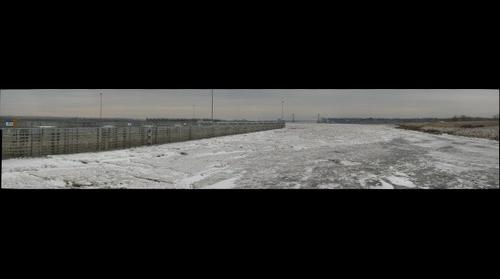 Mississippi river ice at Alton