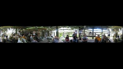 In the caterpillar raising barn at the Area de Conservacion Guanacaste