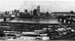 Downtown Pittsburgh from Southside about 1929