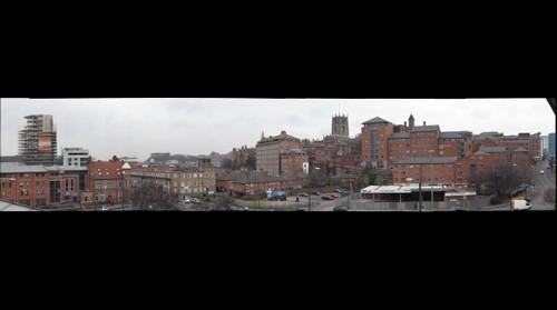 Rooftop view of Nottingham, England