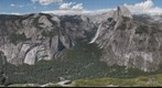 View of Yosemite Valley, Tenaya and Merced Canyons from near Glacier Point.