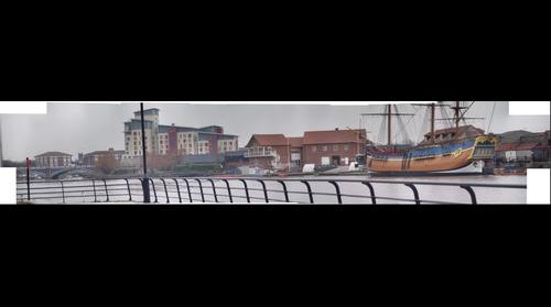 Panorama of the view across the River. Stockton on Tees
