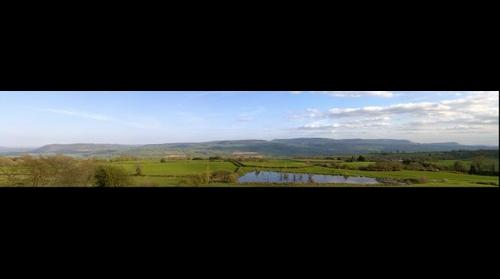 Looking across the Wye Valley towards Hay-on-Wye