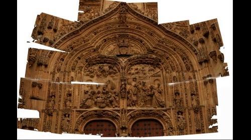 catedral de salamanca, portada del nacimiento