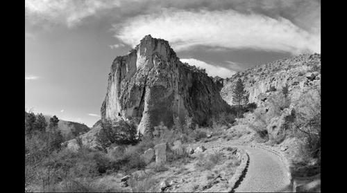 Bandelier National Park in B&W