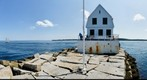 Rockland Lighthouse and Pier (360) Maine, USA  