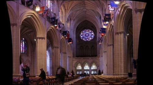 Washington National Cathedral - Interior View of West Facade
