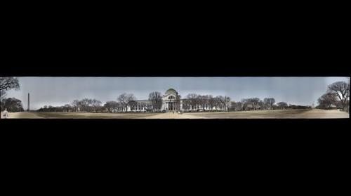 WASHINGTON DC 180 DEGREES  .. WASHINGTON MONUMENT TO U.S  CAPITOL BLDG