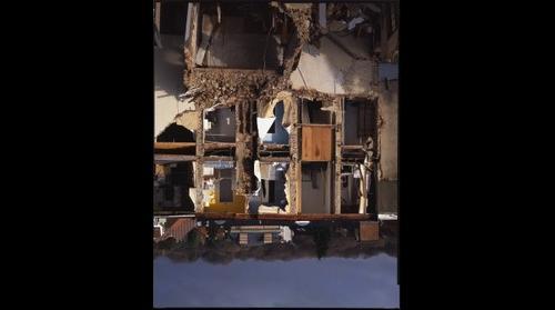 Brussels Auderghem collapsed house