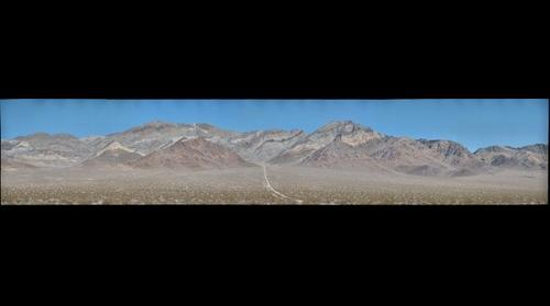 Gigapan of the south side of Bare Mountain, Nevada